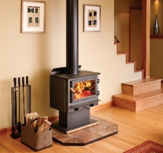 Stove with chimney