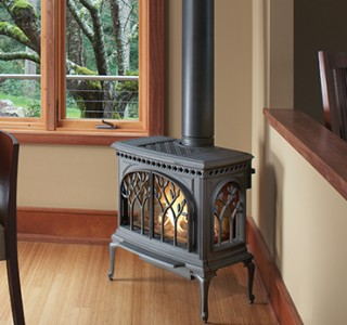 Stylish iron stove for heating