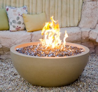Firebowl firepit for backyard