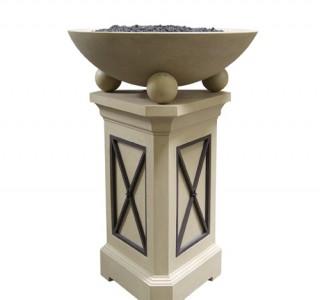 Elegant firepit pedestal