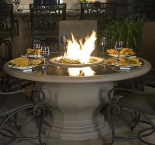 elegant firepit table