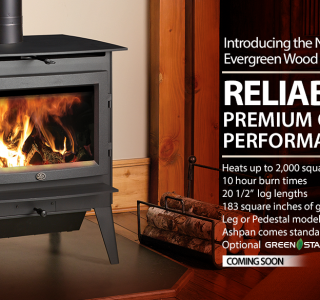 Evergreen fireplace ad