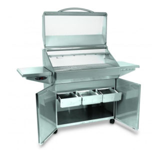 Memphis Elite grill open doors and open ash drawers