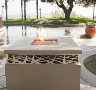 stylish outdoor firepit feature