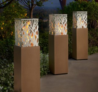 backyard stylish lanterns