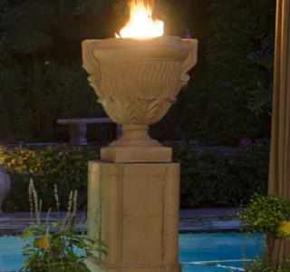 decorative outdoor firepit feature