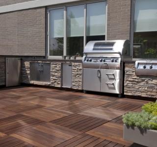 spacious patio outdoor kitchen