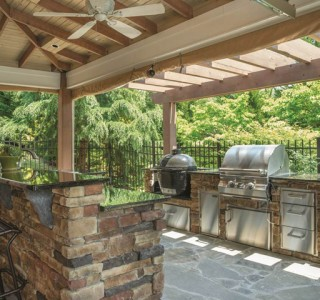 outdoor kitchen, bar & grill
