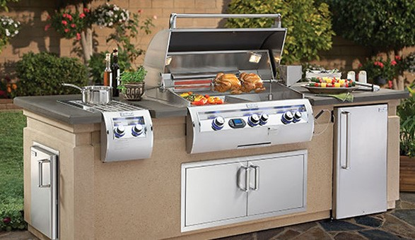 large outdoor grilling station