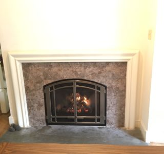 fireplace in wall