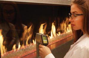 measuring fireplace heat