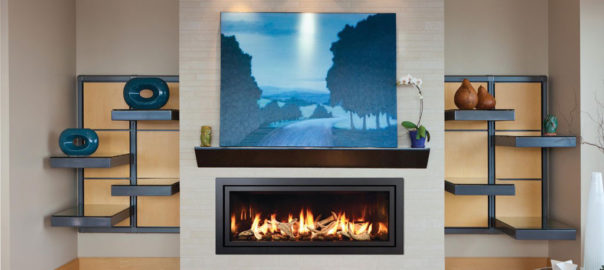 Minimalist wide fireplace