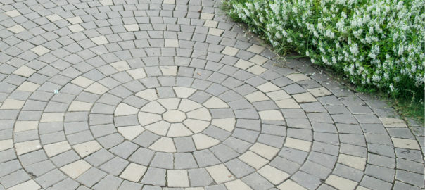 outdoor stonework on patio