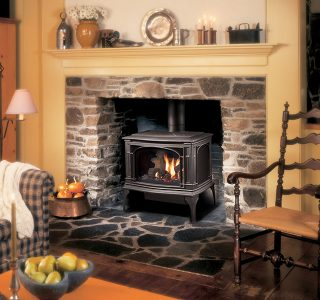 den with gas stove