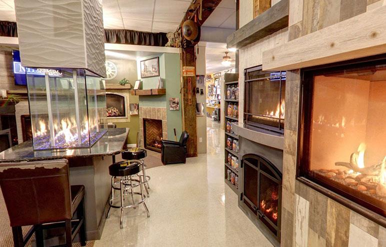pellet stove showroom