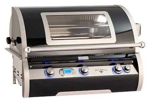 black and silver grill top