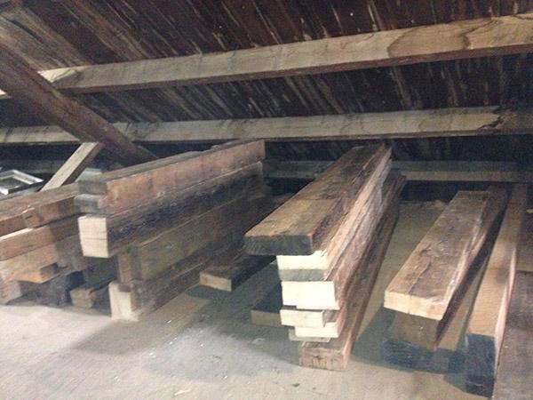 old barn beams