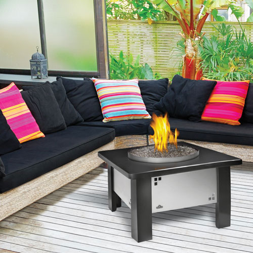 stylish modern firepit