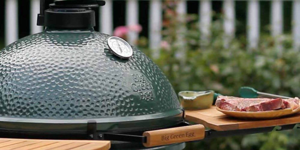 green charcoal grill