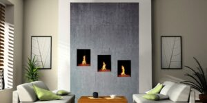 custom wall fireplace
